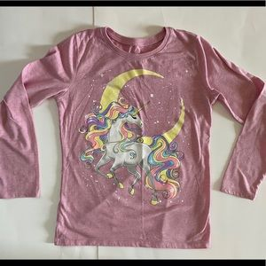 🦄 Children's Place Unicorn Ling Sleeve Tee